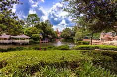 https://flic.kr/p/WhiVKh | Thunder In The Distance | Today's photo tour sends us to the Magic Kingdom for a shot of Big Thunder Mountain. The sky for this shot was pretty epic with some dark, puffy clouds. I really like how the trees and the foreground plants frame Big Thunder Mountain. It really makes for a different and unique kind of shot. Please enjoy and have a magical day!  Visit Disney Photo Tour on Facebook and Instagram