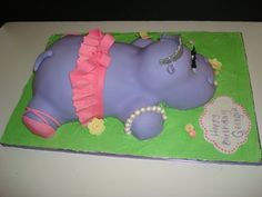 Ballerina Hippo Cake-this may be for a kid but I'd be sooooo happy if this were my birthday cake!