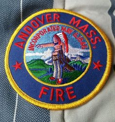 Andover, MA Fire Department Patch EMS Massachusetts