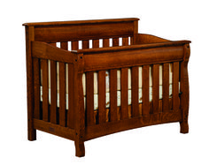 Amish Castlebury Convertible Crib  Your child deserves world-class, beautiful baby furniture that will grow alongside your family.  The hand crafted Castlebury Convertible Crib is the perfect solution for your growing family.