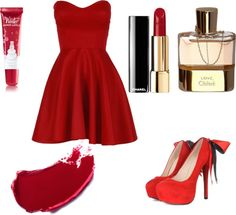 """rojo"" by milea06 ❤ liked on Polyvore"