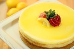 Lemon Cheesecake w/ sour cream topping & simple lemon glaze