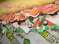 Subway Sandwich Grooms Cake