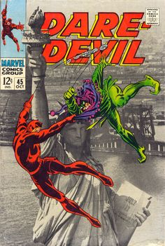 Daredevil #45, october 1968, cover by Gene Colan and Frank Giacoia.