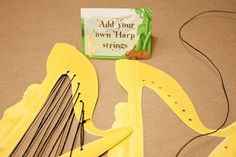 Jack and the beanstalk harp - fine motor task Traditional Tales, Traditional Stories, Eyfs Activities, Book Activities, Fairy Tale Activities, Eyfs Jack And The Beanstalk, Fairy Tales Unit, Funky Fingers, Fairy Tale Theme