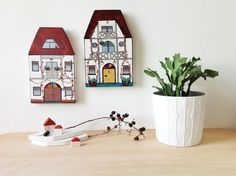 White Mansion II - Wooden Wall Decor