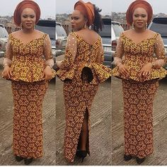 Fantastic Fitted Ankara Skirt and Blouse Styles You Need to Rock Owambe.Fantastic Fitted Ankara Skirt and Blouse Styles You Need to Rock Owambe African Lace Dresses, African Dresses For Women, African Attire, African Wear, African Women, African Blouses, African Fashion Ankara, Latest African Fashion Dresses, African Print Fashion