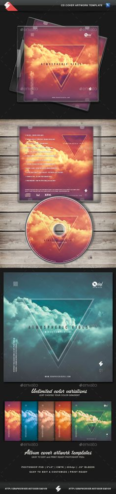 Atmospheric Vibes - CD Cover Artwork Template PSD. Download here: http://graphicriver.net/item/atmospheric-vibes-cd-cover-artwork-template/14145956?ref=ksioks