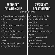 I have personally experienced many wounded relationships. This is because I was attracting partners from my own wounds that I hadn't… Healthy Relationships, Relationship Advice, Wisdom Quotes, Life Quotes, Mental And Emotional Health, Go For It, Emotional Intelligence, Writing Tips, Self Improvement