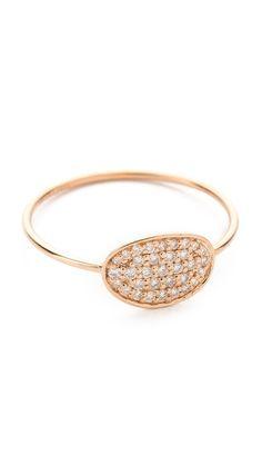 ginette_ny Mini Sequin Diamond Ring