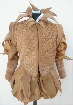 Historically-based/Fantasy doublet made from leather scraps