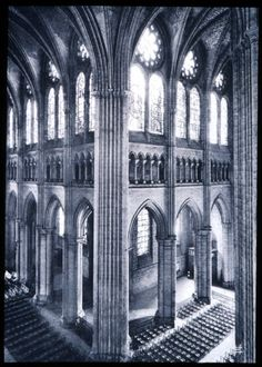 Chartes Cathedral - much of the original stained glass has survived.  Chartres is one of the most well preserved cathedrals from France's High Gothic period (early 13th century).