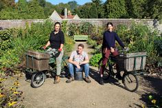 Tom has been demoted from his bike... 😉  A warm welcome to Trainee Horticulturalists Laura and Chantal! Laura (right) has been supported by the Jim Buckland and Sarah Wain Horticulturalist Fund and Chantal (left) by funding from Perennial grbs  A fantastic opportunity for both of them to work alongside our gardeners and kick start their professional careers. #westdeangardens Baby Strollers, Opportunity, Toms, Kicks, Warm, Perennial, Horticulture, Dean, Training