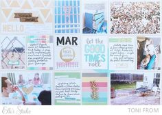 Project Life Process Video by Toni From using the Elle's Studio April kit + Cienna collection