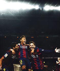 Os 119 gols do MSN na temporada:  - 57 de Messi - 38 de Neymar - 24 de Suárez