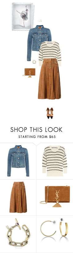 """""""Unbenannt #6038"""" by pretty-girl-in-fashion ❤ liked on Polyvore featuring Levi's, IRO, Claude Montana, Yves Saint Laurent, Tommy Hilfiger and Chanel"""