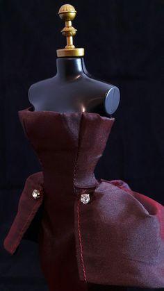 Vestido Vinho #vestido #boneca #barbie #dress #doll  #vinho