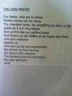 The Chav Prayer