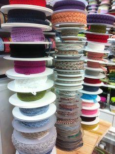 Puntillas de algodón en gran variedad de colores y anchos