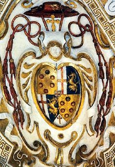 Arms (Medici/?/?) on a celing, palazzo Altemps, Rome (photo © F. Velde).