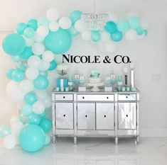 How elegant did this party turn out? Perfect theme & perfect colors for a {preteen} girly girl! Decor by Phases of Love Tiffany E Co, Tiffany Blue Party, Tiffany Birthday Party, Tiffany Theme, Blue Birthday, Birthday Bash, Birthday Ideas, Lingerie Party Games, Lingerie Party Decorations