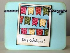Lawn Fawn Say Cheese, Bannerific and Sophie's Sentiments  let's celebrate! by fishinkitten, via Flickr