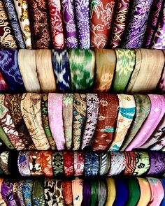 Market streets in Bali. #fabric #color #texture #patters #travel #bali #ubud