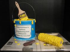 Paint the town with this custom birthday cake! Perfect for the handyman.