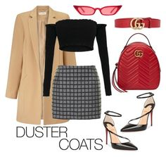 """""""Untitled #508"""" by brookemuir ❤ liked on Polyvore featuring Miss Selfridge, Christian Louboutin, Topshop and Gucci"""