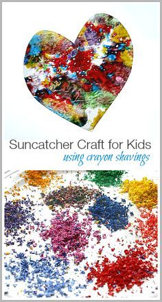 Suncatcher Craft for Kids Using Crayon Shavings ~ BuggyandBuddy.com