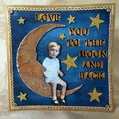 "This vintage card was created for Creative Carte Blanche with a theme of ""Sun, Moon and Stars"".  You can see the complete tutorial here: http://candycreates.blogspot.com/2016/08/the-sun-moon-and-stars-vintage-card.html"