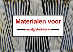 Materialen of grondstoffen voor boekbinden