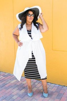 Plus Size Clothing for Women - Chicest Of Them All Vest - White - Society+ - Society Plus - Buy Online Now!
