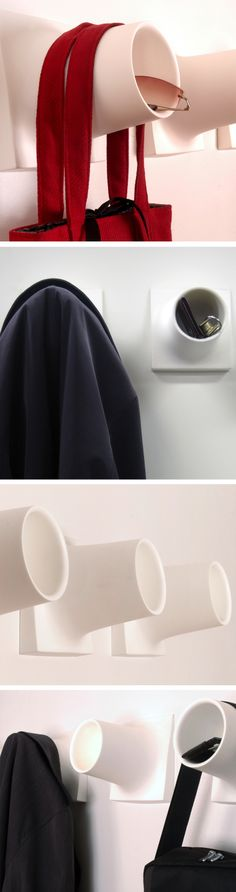 Storage - Cubby coat hook // this clever design features a cubby to put keys, glasses etc. and gently hang a coat 3d Prints, Clever Design, Coat Hooks, Cubbies, Christmas Traditions, Getting Organized, Home Organization, Decoration, Household