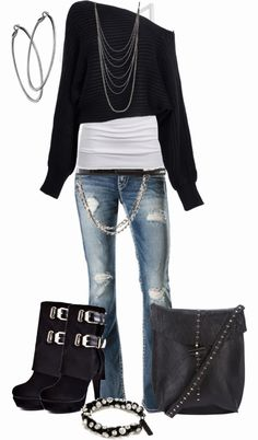 Get Inspired by Fashion: Casual Outfits | Cozy in Black