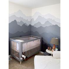 mountain mural by hannah yost #nursery #babyroom #liloutdoorsman #colorado…