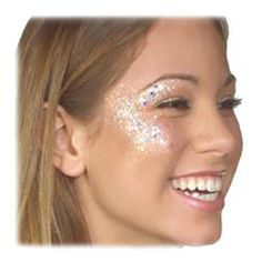 simple sparkle face paint | Cheerleading Face Paint | birthday party