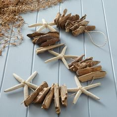 Driftwood Long Garland with Starfish