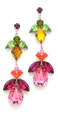 TOM BINNS Crystal Drop Earrings
