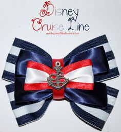 Disney Cruise Line Hair Bow by MickeyWaffles on Etsy