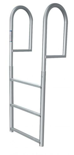 Three Step Stationary Dock Ladder. This JIF Marine ladder (part #DJV3) is great support for seawalls and stationary docks. Anodized Aluminum to prevent any type of rust.