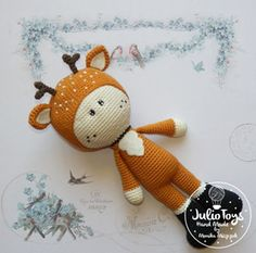Deer crochet pattern      This is a crochet pattern PDF - NOT the actual finished doll at the photos!   The pattern is available in ...