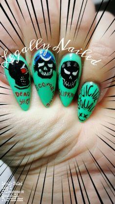 Suicide Squad nail art