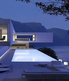 VILLA CYPRUS Designed by 📐 📍located in the south of Cyprus 🇨🇾 Architectural visualization ©️ Svetozar Andreev Minimalist Architecture, Modern Architecture House, Futuristic Architecture, Residential Architecture, Modern House Design, Amazing Architecture, Architecture Design, Villa Design, Living Haus