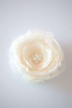 Frost Blossom - Bridal Hair piece