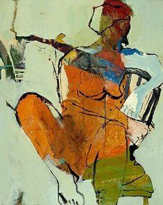 """Dwell"" by Linda Christensen ~ 24 x 30 Figure Painting, Figure Drawing, Painting & Drawing, Abstract Portrait, Abstract Art, Life Drawing, Figurative Art, Modern Art, Contemporary"