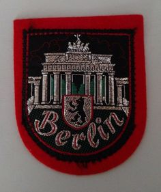 Berlin Germany Capital Coat of Arms Patch Travel Souvenir Collectible   #Unbranded