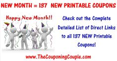 ***NEW MONTH = 137 NEW PRINTABLE COUPONS*** We have a TON of GREAT NEW Coupons this Morning! PRINT the ones you NEED NOW! Click the Picture below to get a DETAILED LIST of all 137 MOBILE FRIENDLY Direct links that will Clip the Coupons for you ► http://www.thecouponingcouple.com/137-new-printable-coupons-to-start-april/  Help us out and use the SHARE button below the Picture to SHARE this post with your Family and Friends!  #Coupons #Couponing #CouponCommunity  Visi