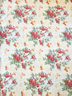 Ralph Lauren Vintage Garden Floral Fabric by ShopPetunias on Etsy