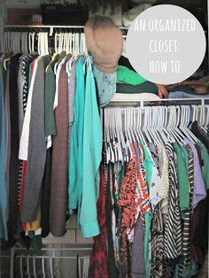 how to organize a small closet; small closet organization ideas